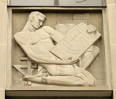 bas relief at ryerson in toronto