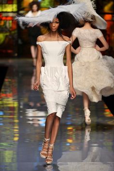 PARIS – JANUARY 26 A model walks the Runway at the Christian Dior Fashion Show during Paris Fashion Week Dior Haute Couture Spring/Summer 2009 Collection