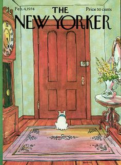 A George Booth cover from 1974. - New Yorker Cover Quiz