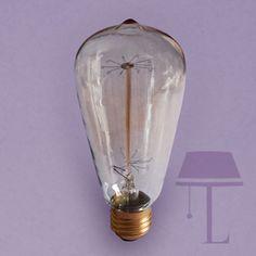 Large Vintage squirrel 60W ES bulb