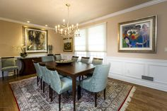We love the whimsical pop of decor in this elegant NJ dining room.