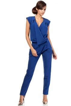 Pantsuit for women in color cornflower