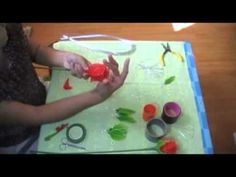 How to make stocking flower (Rose) by www.ployandpoom.com 2/2