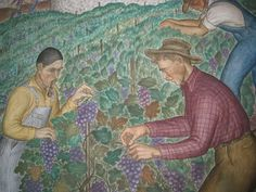 Coit Tower WPA murals, San Francisco Coit Tower San Francisco, Wineries, Murals, Growing Up, America, Painting, Beautiful, Art, Art Background