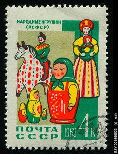 Postage stamp Matrioska- Matroschka- Matriochka- Matrjosjka- russische Puppe Matroesja- Russian Nesting Doll   www.matrioskas.es