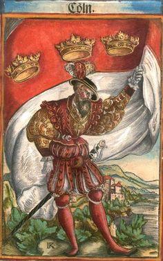 "Köln [Cöln] (= Cologne) (f°45) -- Koebel, Jacob, ""Wapen des heyligen römischen Reichs teutscher Nation"", Franckfurth am Main, 1545 [BSB Ms. Rar. 2155]"