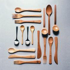 Wood spoons.