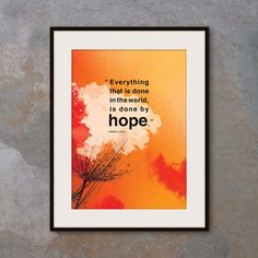 Inspirational poster with hope quote. Positive by inspiring4U, $26.00