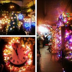 inside of Serendipity in NYC at Christmas