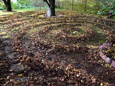 Leaf Labyrinth in my yard Labyrinth Garden, Vineyard, Leaves, Explore, Outdoor, Outdoors, Vine Yard, Vineyard Vines, Outdoor Games