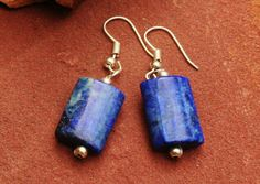 Simply Lapis Lazuli Earrings  Simple And Different door EASTERNSOULS