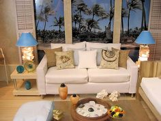 A diorama I  built it's the living room of a house in Hawaii.