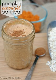 Pumpkin Overnight Oatmeal is a great breakfast on the go! The flavors of cinnamon, nutmeg and pumpkin in the morning are so comforting. Prep it the night before for a simple, delicious breakfast.