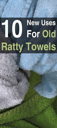 10 New Uses  for Old Ratty Towels. Don't throw those old towels away! They can be turned into all sorts of things such as aprons, baby wipes, cleaning cloths, and much more. #Reuserepurpose #Homesteadsurvivalsite #Homestead #Livingoffthegrid