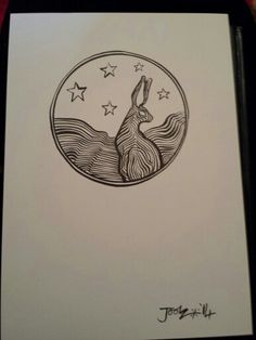 Moongate Ink Series : Star Hare
