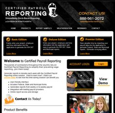 Web design for Certified Payroll Reporting. Faster Solutions: www.fastersolutions.com