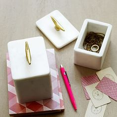 Trinkets & containers for dresser/nightstand/console styling ($24 - $35)