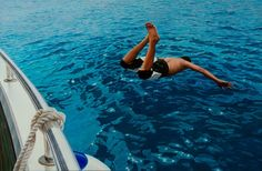 "Gustavo Fernandes ""The First Dive"" Just imagine diving of a yacht/boat into that crystal blue sea! Dream holiday"