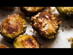 Brussels Sprouts were never so amazing! These CRISPY Brussels Sprouts are roasted with parmesan and garlic with a sprinkle of breadcrumbs for extra crunch. Veggie Side Dishes, Vegetable Dishes, Vegetable Recipes, Parmesan, Marinated Pork Chops, Great Recipes, Favorite Recipes, Recipetin Eats, Casserole Dishes