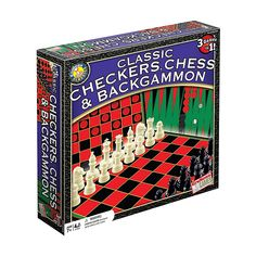 Play three classic games with this Classic Checkers, Chess & Backgammon Game Set by Endless Games. Word Games For Kids, Puzzle Games For Kids, All Games, Checkers Board Game, Board Games, Game Boards, Backgammon Game, Best Gifts For Tweens, Cool Toys For Boys