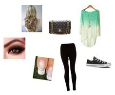 """""""Untitled #269"""" by estar1321 ❤ liked on Polyvore featuring Converse and Chanel"""