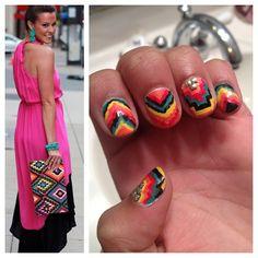 Aztec nails #nail #nails #nailart