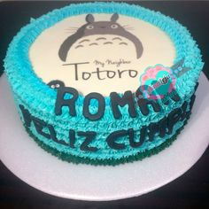 Totoro, Cupcakes, Birthday Cake, Twitter, Desserts, Instagram, Food, Themed Cakes, Cream