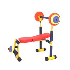 Redmon Fun and Fitness Exercise Equipment for Kids – Weight Bench Set