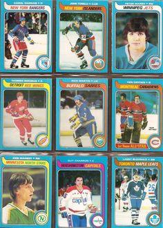 145-153 Carol Vadnais, John Tonelli, Peter Marsh, Thommie Bergman, Rick Martin, Ken Dryden, Kris Manery, Guy Charron, Lanny McDonald