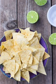Hint of Lime Baked Tortilla Chips - She Likes Food