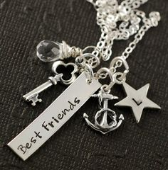 Crystal Best Frineds Silver Ring | Best Friends Necklace, Birthstone Crystal, Personalized Sterling ...
