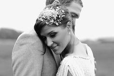 On her wedding day! (Laura + Dan) #weddingportraitinafield #clairestelle #crazybear #vsco #weddingportrait