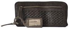 Cowboysbag Ayr 1176 Geldbörse, Leder Portemonnaie mit Flechtoptik, Grey/ grau, 20x10,5x2 cm (B x H x T) Leder Geldbörsen