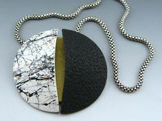 Polymer clay/ vintage chain.  Stonehouse Studio.