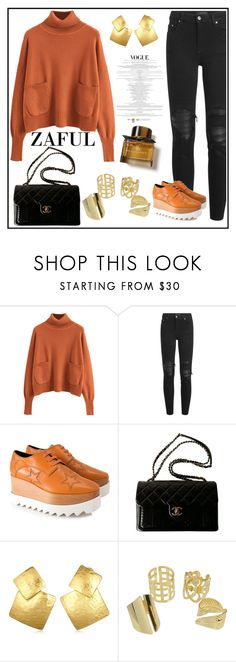 """""""Untitled #749"""" by aazraa ❤ liked on Polyvore featuring AMIRI, STELLA McCARTNEY, Chanel, Oscar de la Renta and Burberry"""