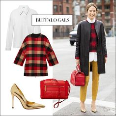 The Style Fashion Trends September 2013 - Style Ideas for September 2013 - Harper's BAZAARLayering is one of fall's essential strategies, and buffalo plaid over an oxford shirt is a surefire recipe for success. (Alternatively, sub a thin turtleneck under a sweatshirt.) Do like Ten lingerie designer Daphne Javitch and top it off with a luxe leather coat, matching your bag to the sweater.