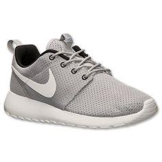 Women's Nike Roshe Run Casual Shoes| Finish Line | Wolf Grey/White/Black