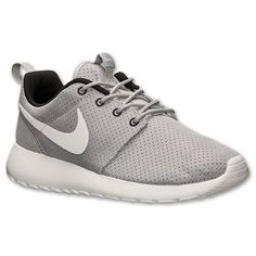 Women's Nike Roshe Run Casual Shoes | Finish Line | Wolf Grey/White/Black