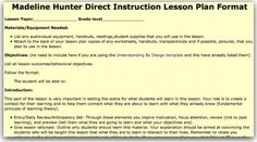 Madeline Hunter Lesson Plan Template Lovely top 10 Lesson Plan Template forms and Websites Blank Lesson Plan Template, Lesson Plan Format, Lesson Plan Examples, Daily Lesson Plan, Have Fun Teaching, Teaching Plan, Teaching Ideas, Madeline Hunter Lesson Plan, Plan Image