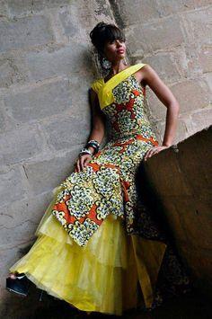Vestido estilo Ankara *Ankara style dress