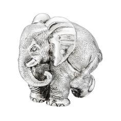 "Patrick Mavros Large Silver ""ZoZo"" Elephant Sculpture Elephant Sculpture, Sculpture Art, Silver Candelabra, Wildlife Art, Elephants, Metals, Patches, Gems, The Incredibles"