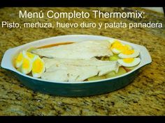 Menú completo II Thermomix © Patri - YouTube Menu, Eggs, Breakfast, Robot, Youtube, Videos, Cooking, Potatoes, Sweets