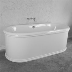 "'The Knightsbridge66' 66"" Cast Iron Double Ended BathTub with Detailed Exterior Shell plus Accessories"
