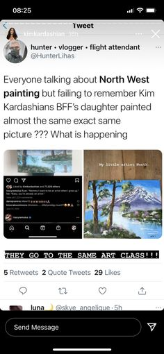 Kim Kardashian Mounted an All-Out Defense of North After Skeptics Questioned Her Painting #hair #hairstyles #easyhairstyles Kardashian Family, Kim Kardashian, Because The Internet, Celebrity Haircuts, Proud Mom, Easy Hairstyles, Instagram Story, To My Daughter, This Or That Questions