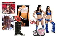 """""""Kat w/ Aj vs Nikki Bella w/ Brie."""" by jamiehemmings19 ❤ liked on Polyvore featuring WWE and Converse"""
