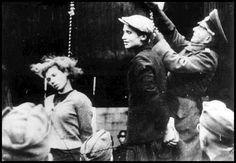 """Die Erhängung der Krankenschwester Maria """"Masha"""" Bruskina  im Oktober 1941 durch Mitglieder der 706. Infanteriedivision der Wehrmacht, habe ich als Kind zum 1. Mal gesehen. Ich habe es seither nie vergessen & es verfolgt mich seit damals bis in meine Träume."""