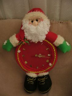 relog santa Red Christmas, All Things Christmas, Christmas Time, Santa Doll, Pasta Flexible, Christmas Projects, Elf, Mary, Dolls