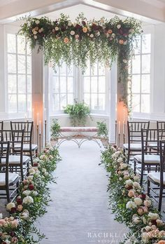 23 of the Most Elegant Church Wedding Aisle Flowers That Will Make Your Friends Jealous Tip 398 Aisle Flowers, Wedding Ceremony Flowers, Wedding Altars, Wedding Ceremony Decorations, Wedding Centerpieces, Wedding Bouquets, Wedding Arches, Wedding Chuppah, Aisle Decorations