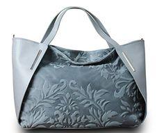 Made in Italy Luxus Damen Handtasche Henkeltasche Bag Shopper Echt Leder Grau - http://herrentaschenkaufen.de/my-musthave/made-in-italy-luxus-damen-handtasche-bag-shopper-2
