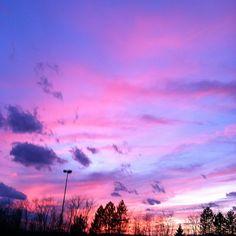 A pink sky in January. Taken in Kingston, NY. 1/7/12